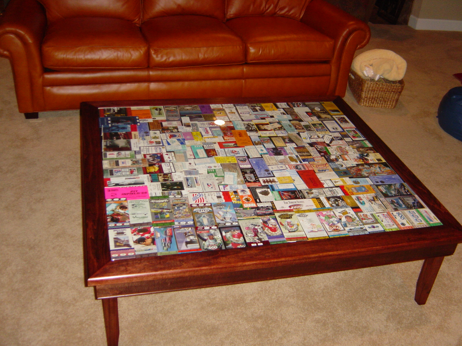 Coffee Table Ticket Display